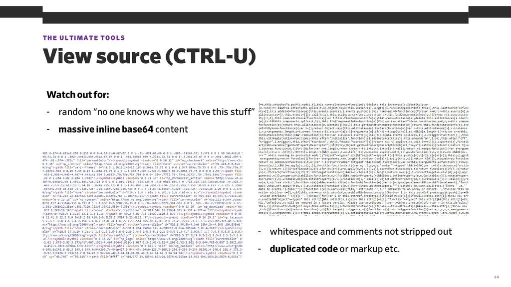 THE ULTIMATE TOOLS 64 View source (CTRL-U) Watc...
