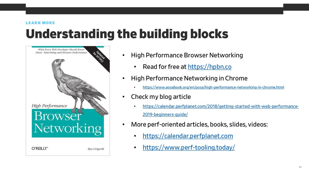 LEARN MORE 67 Understanding the building blocks...