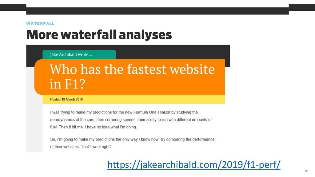 WATERFALL 80 More waterfall analyses https://ja...