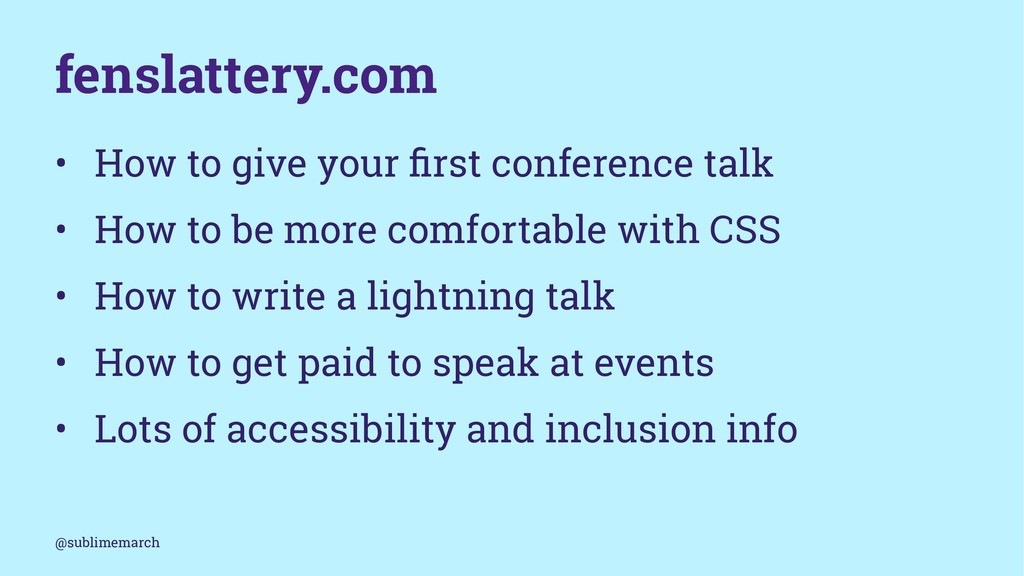 fenslattery.com • How to give your first confere...