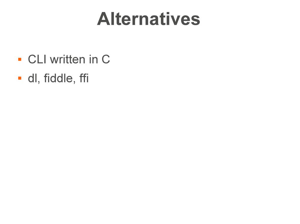 Alternatives  CLI written in C  dl, fiddle, f...