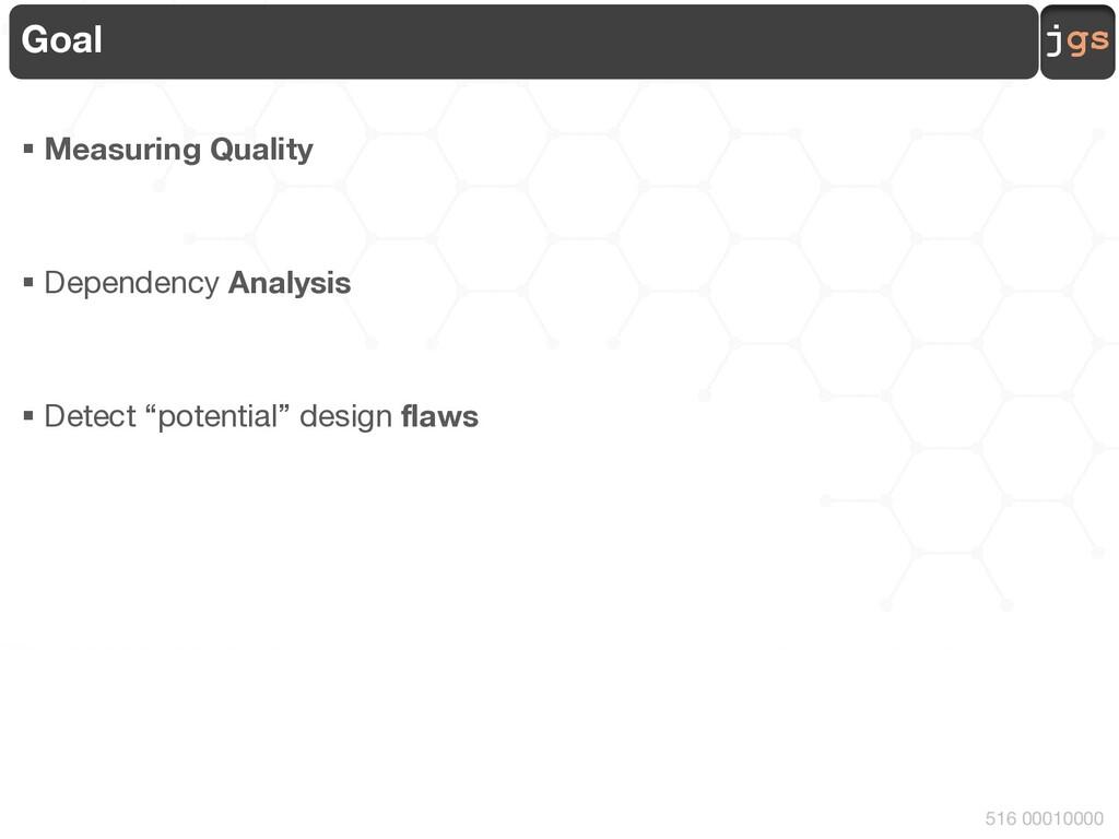 jgs 516 00010000 Goal § Measuring Quality § Dep...