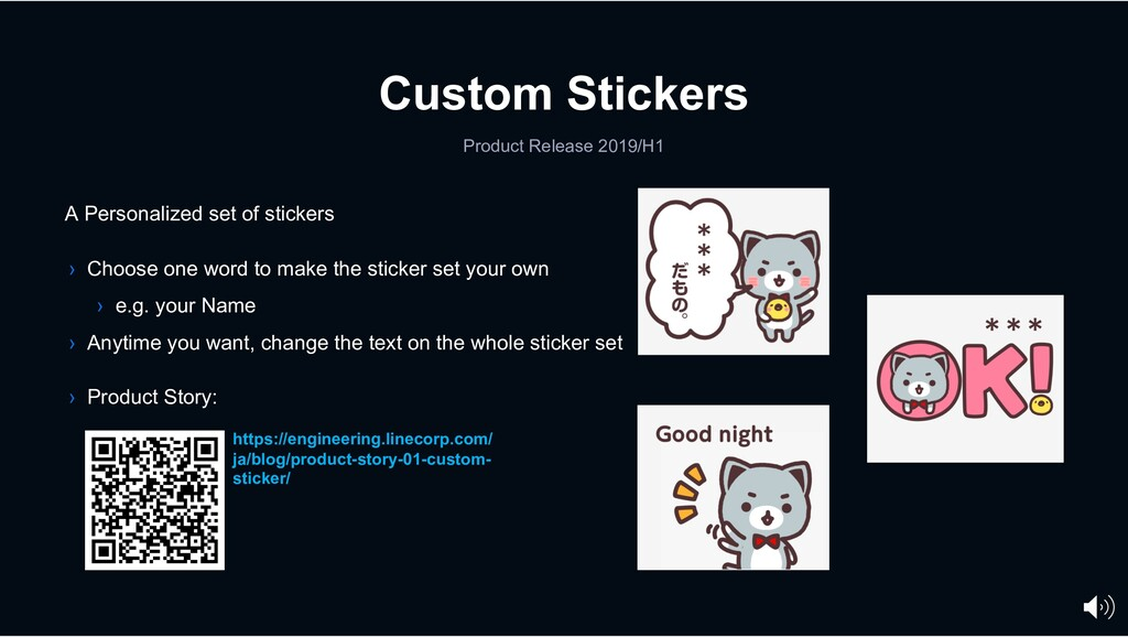 Custom Stickers Product Release 2019/H1 A Perso...
