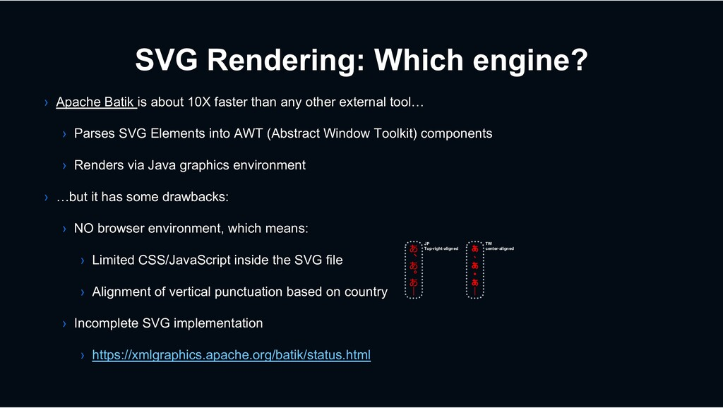 SVG Rendering: Which engine? › Apache Batik is ...