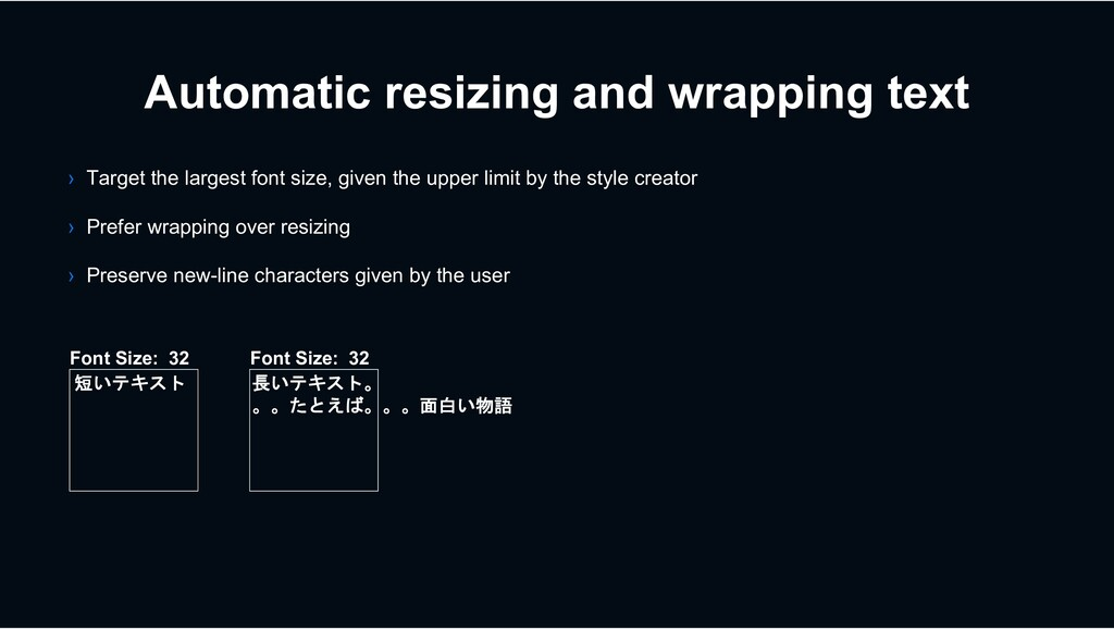 Automatic resizing and wrapping text › Target t...