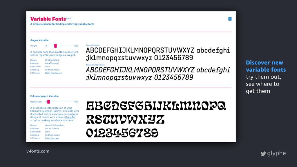 glyphe v-fonts.com Discover new variable fonts ...