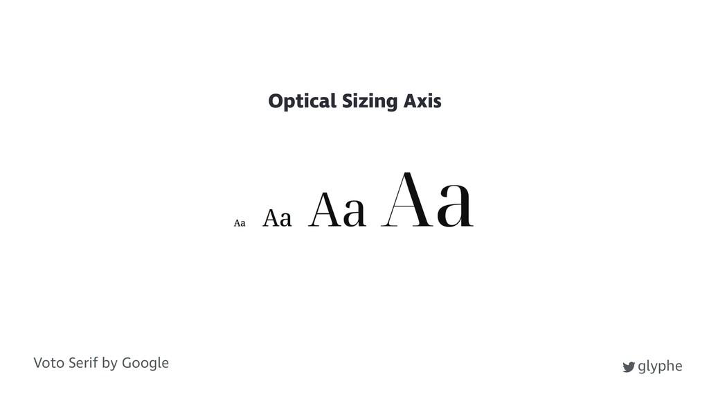 glyphe Voto Serif by Google Optical Sizing Axis