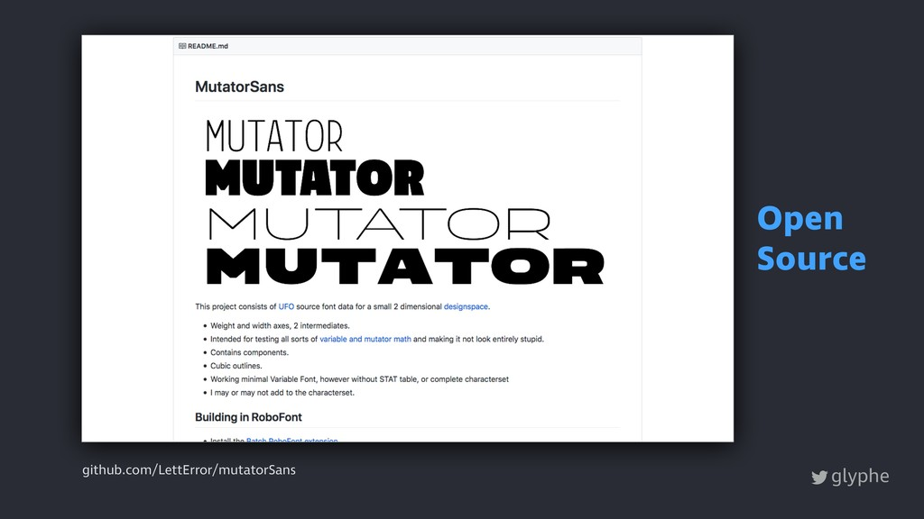 glyphe github.com/LettError/mutatorSans Open So...