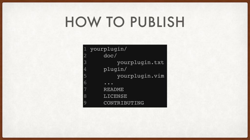 HOW TO PUBLISH 1 yourplugin/ 2 doc/ 3 yourplugi...