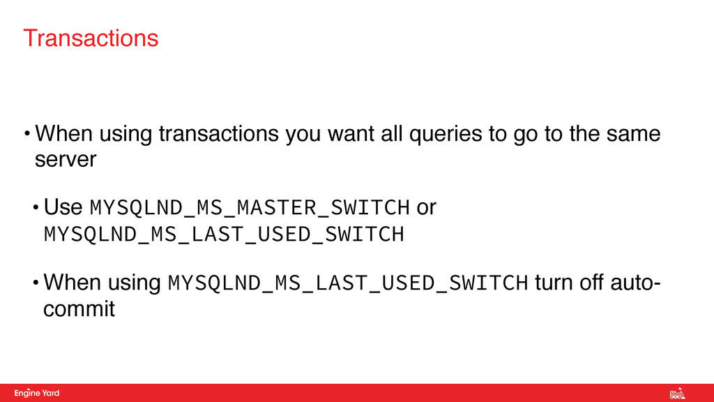 • When using transactions you want all queries ...