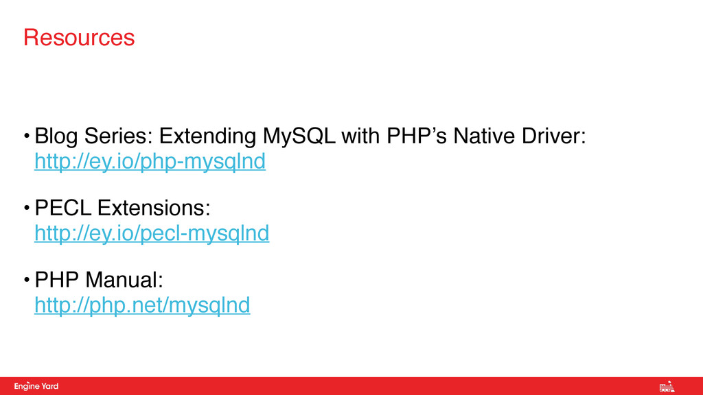 • Blog Series: Extending MySQL with PHP's Nativ...