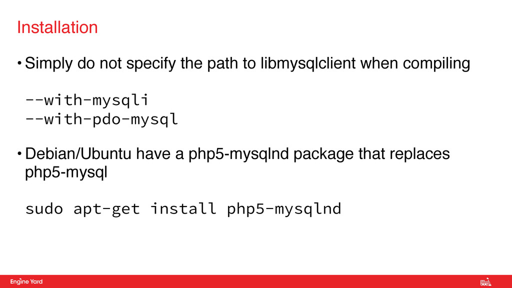 • Simply do not specify the path to libmysqlcli...