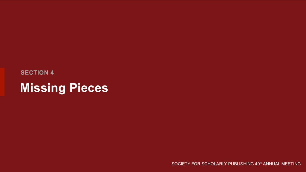SOCIETY FOR SCHOLARLY PUBLISHING 40th ANNUAL ME...