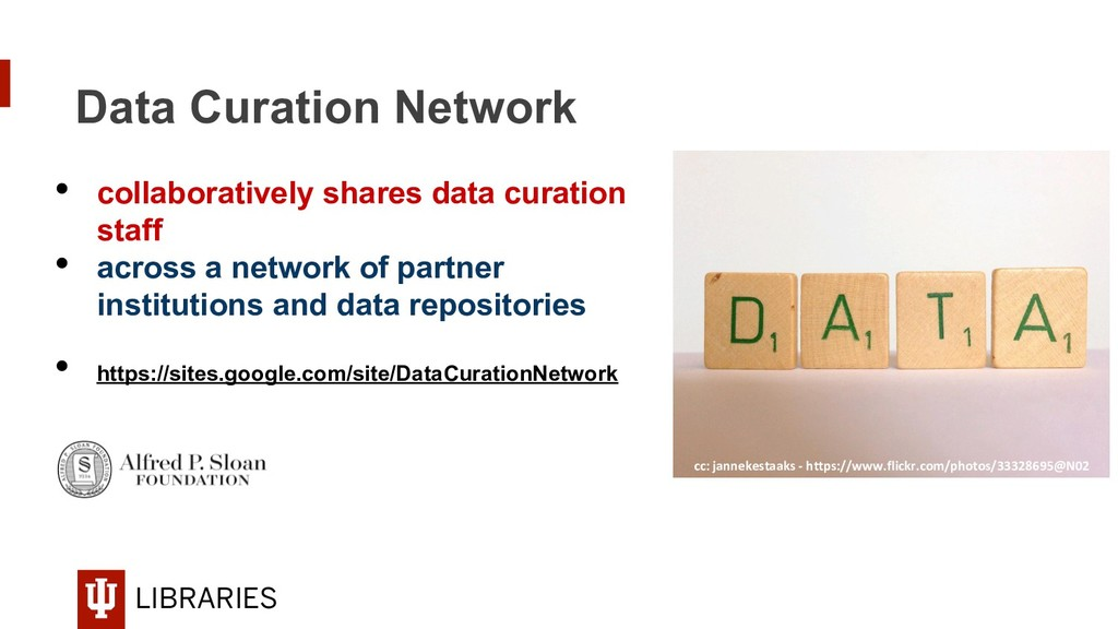 LIBRARIES Data Curation Network • collaborativ...