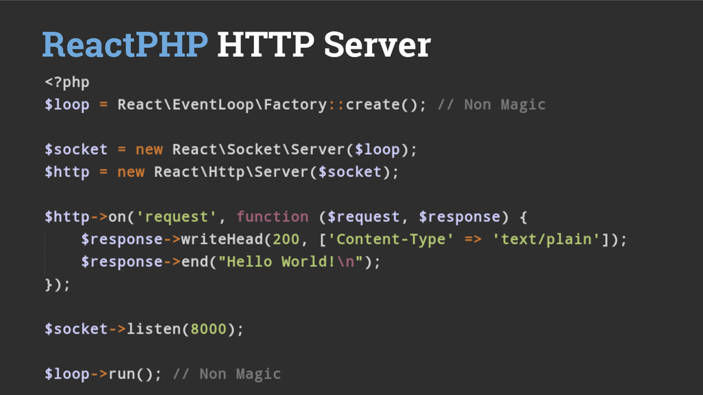 ReactPHP HTTP Server