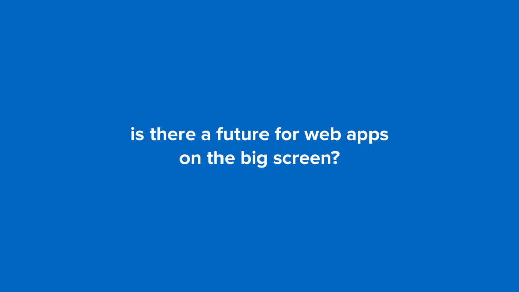 is there a future for web apps 