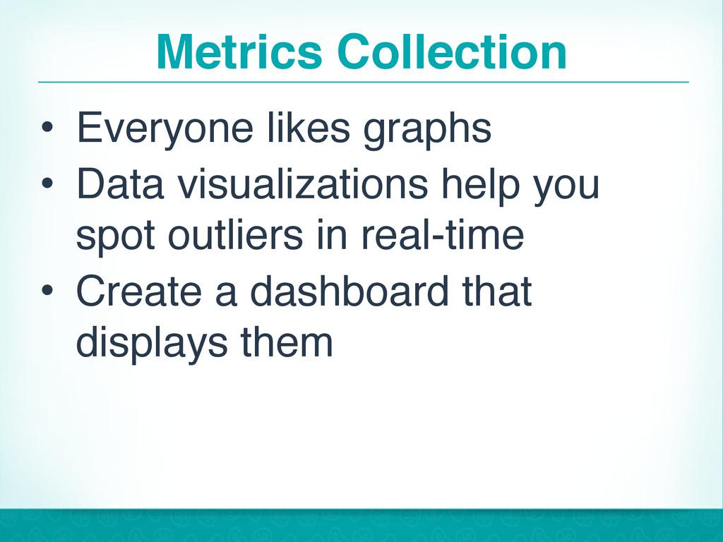 Metrics Collection • Everyone likes graphs • Da...