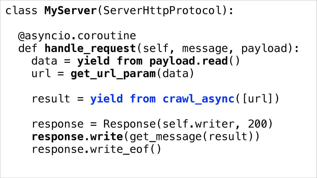 class MyServer(ServerHttpProtocol): @asyncio.co...