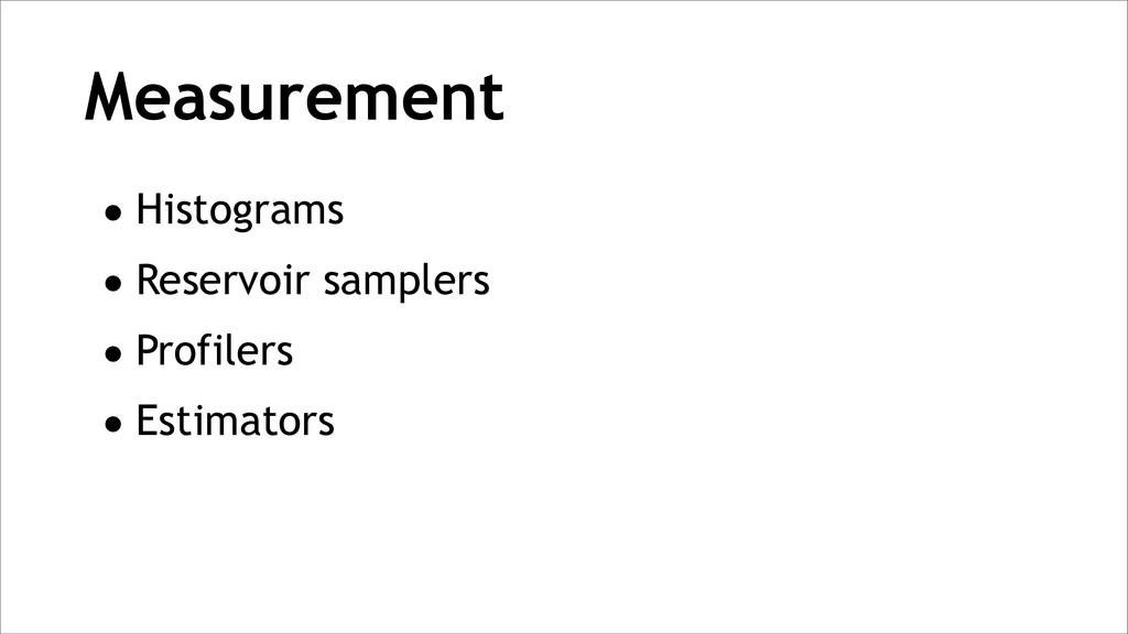 Measurement •Histograms •Reservoir samplers •Pr...