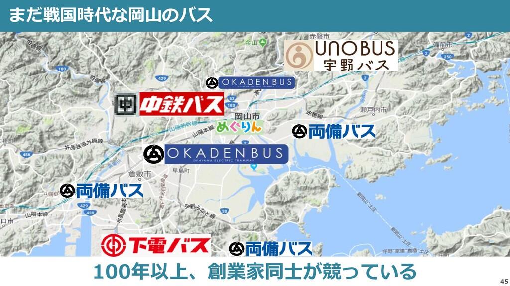 45 まだ戦国時代な岡山のバス 100年以上、創業家同士が競っている