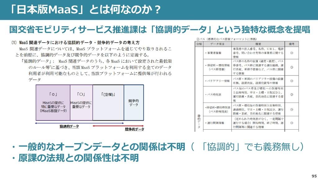 95 「日本版MaaS」とは何なのか? 国交省モビリティサービス推進課は「協調的データ」という...
