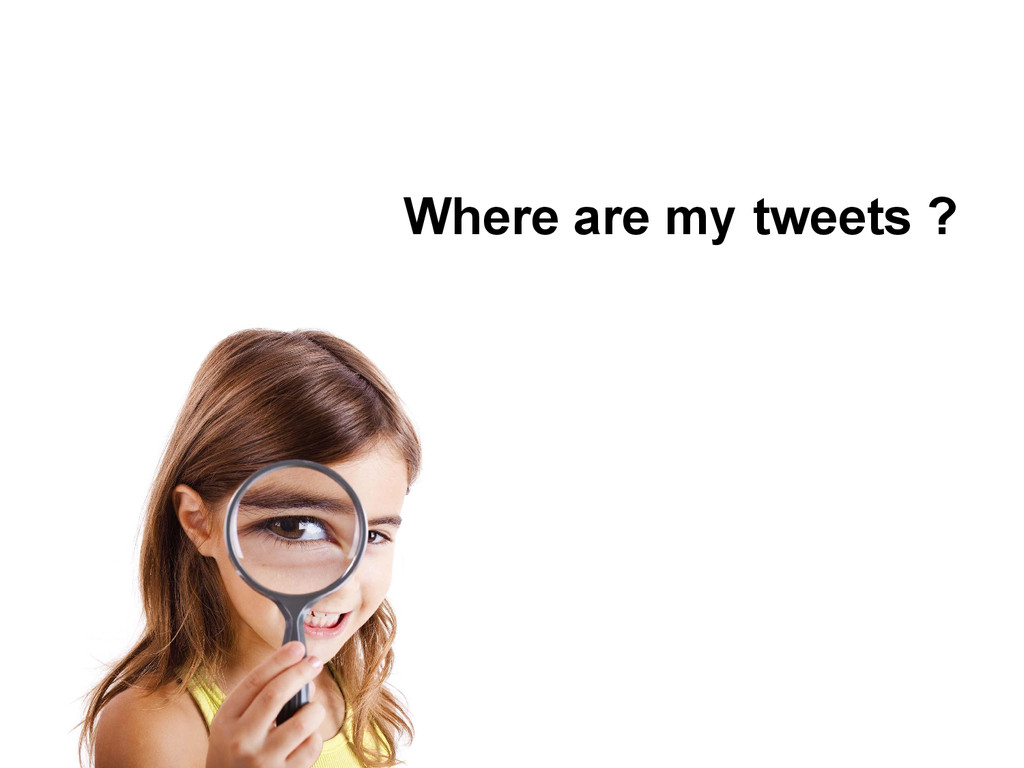 Where are my tweets ?