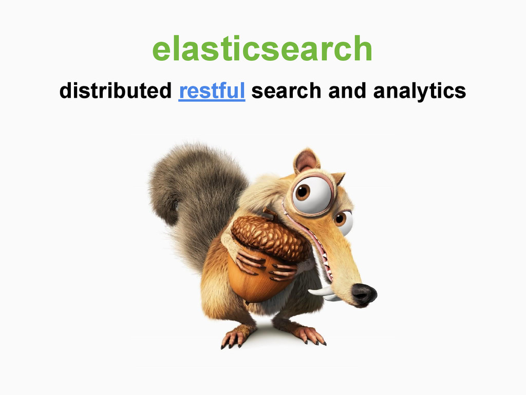 distributed restful search and analytics elasti...