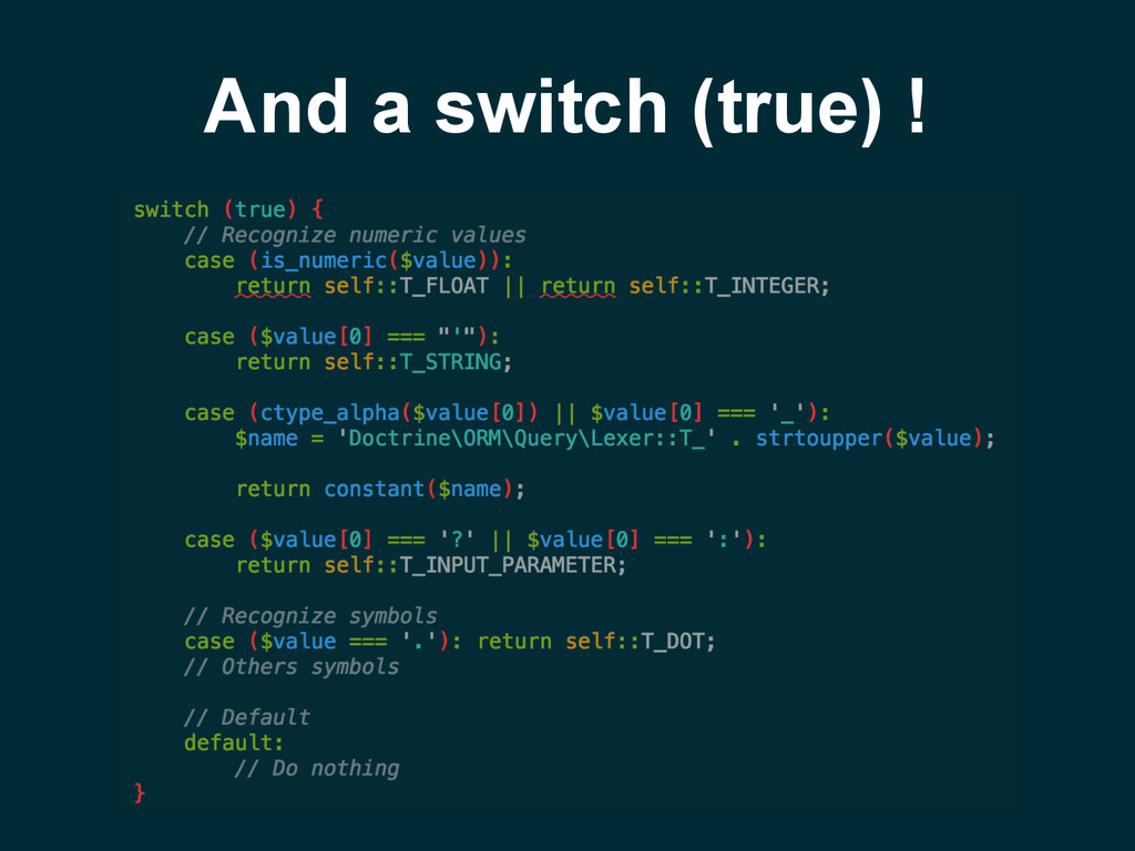 And a switch (true) !