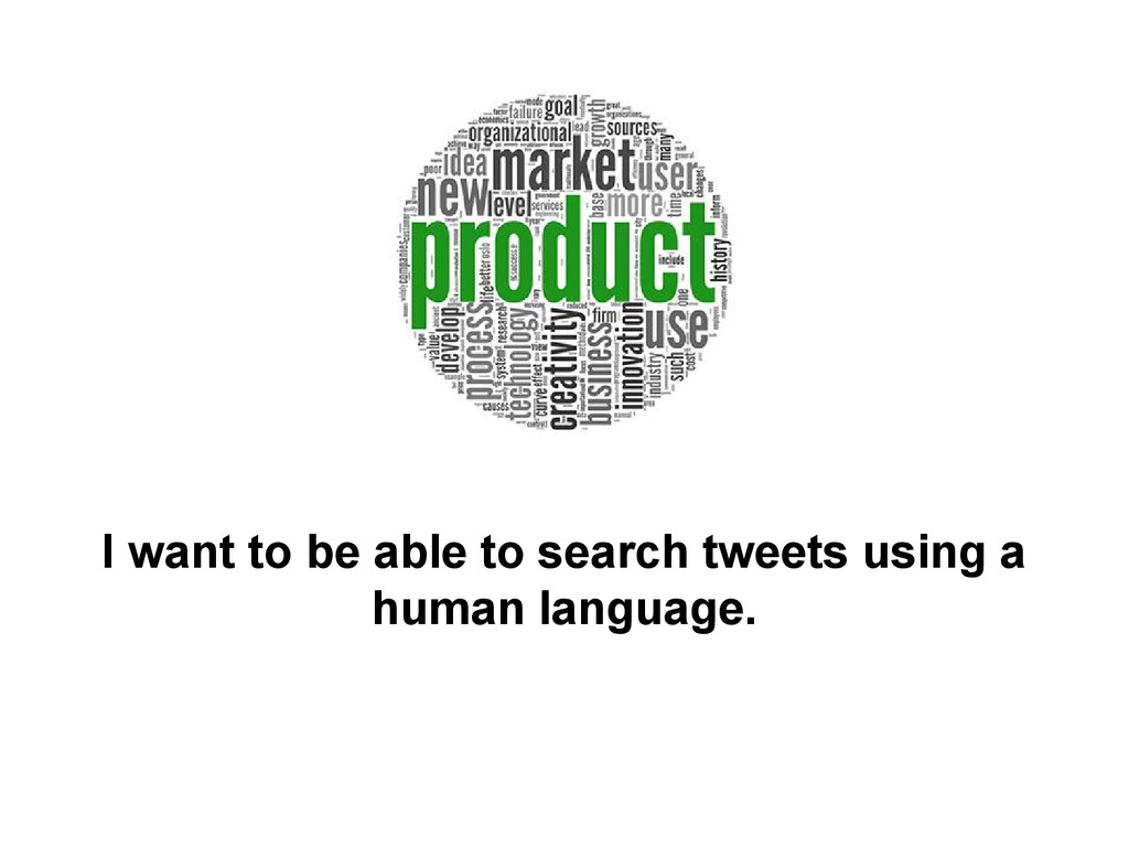 I want to be able to search tweets using a huma...