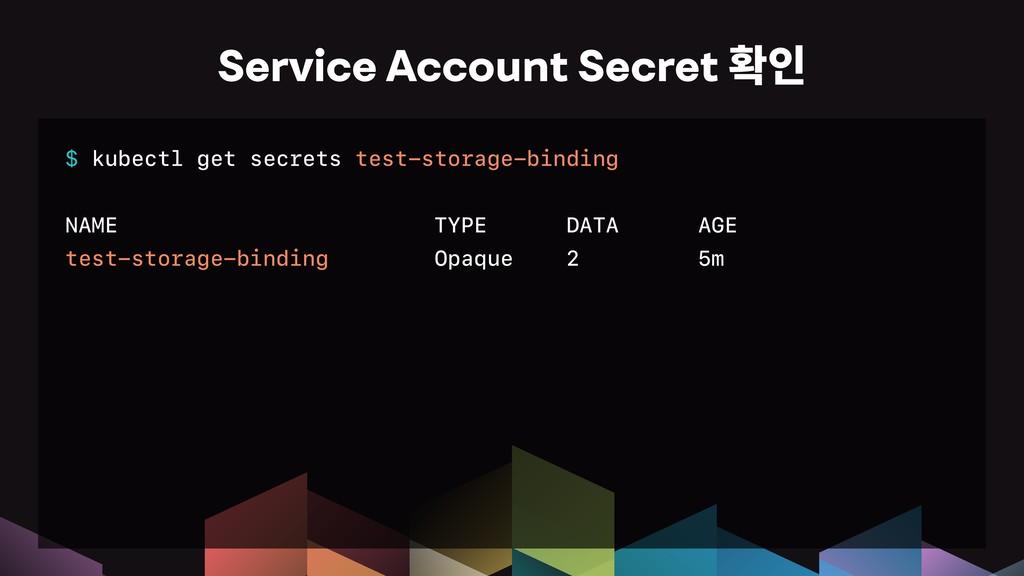 $ kubectl get secrets test-storage-binding NAME...