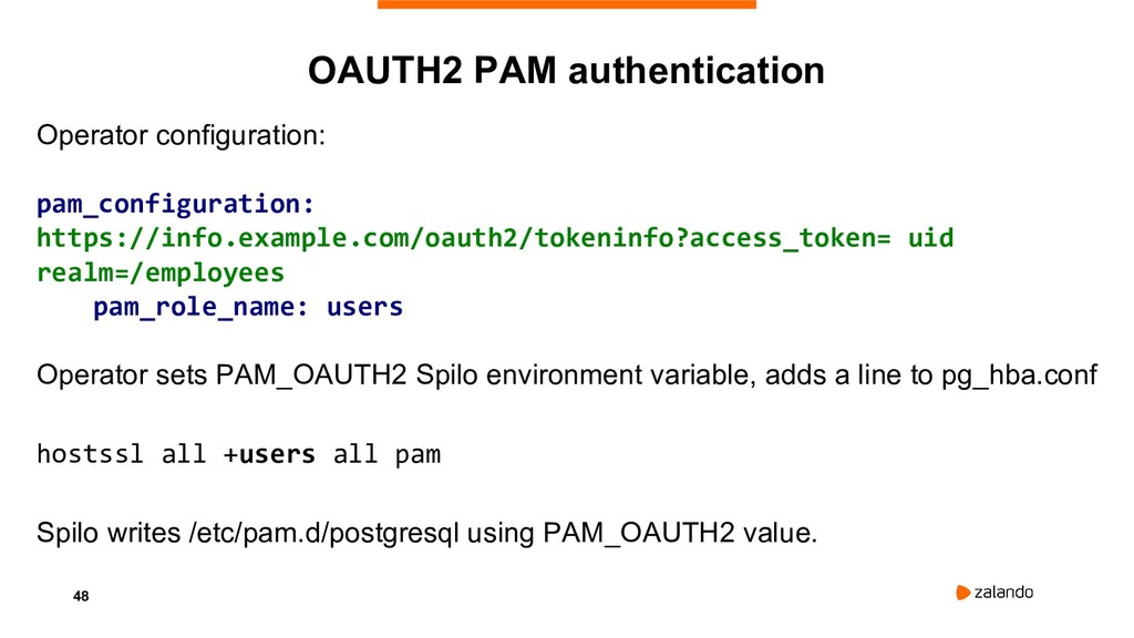 48 OAUTH2 PAM authentication Operator configura...