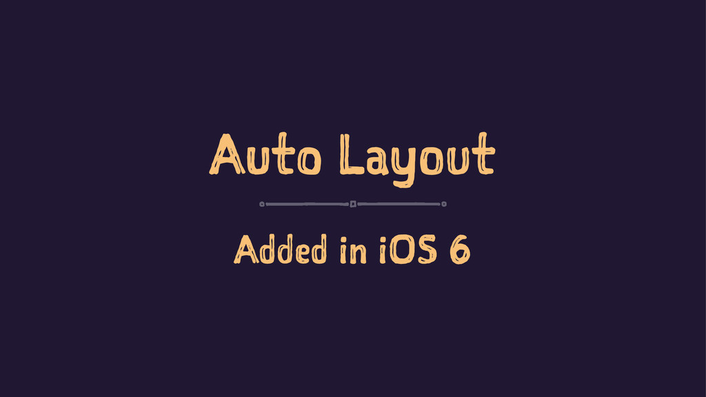 Auto Layout Added in iOS 6