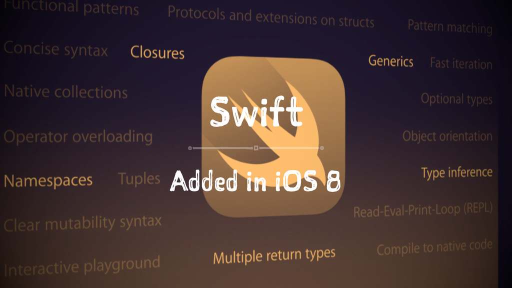 Swift Added in iOS 8