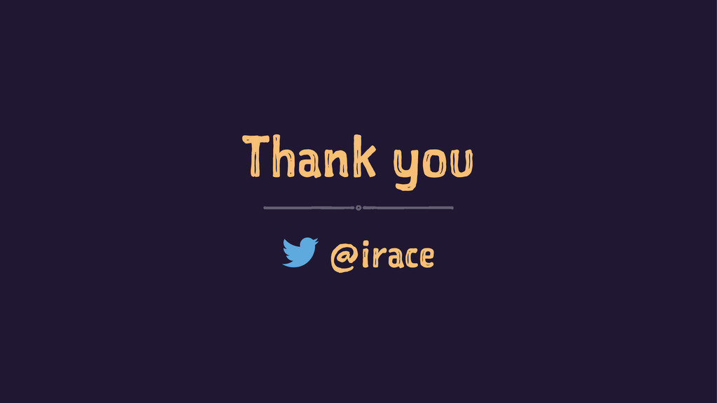 Thank you @irace