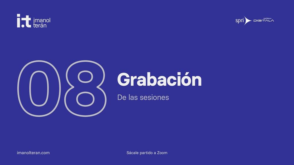 imanolteran.com 08Grabación De las sesiones Sác...