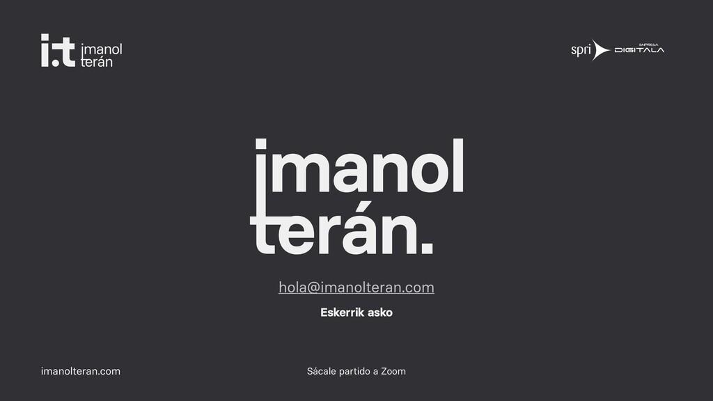 imanolteran.com Sácale partido a Zoom hola@iman...