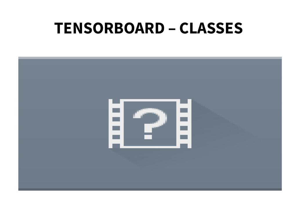 TENSORBOARD – CLASSES