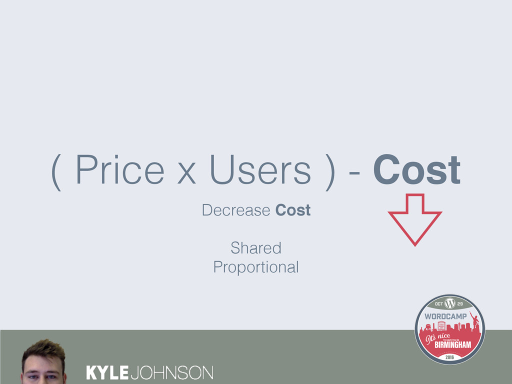 Decrease Cost Shared Proportional ( Price x Use...