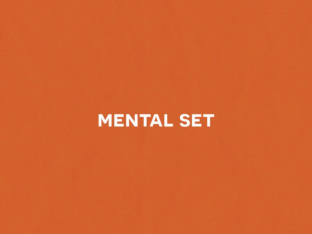 mental set