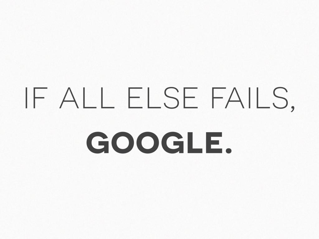 if all else fails, google.