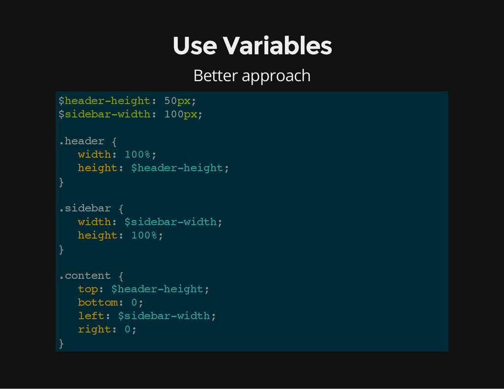 Use Variables Better approach $ h e a d e r - h...