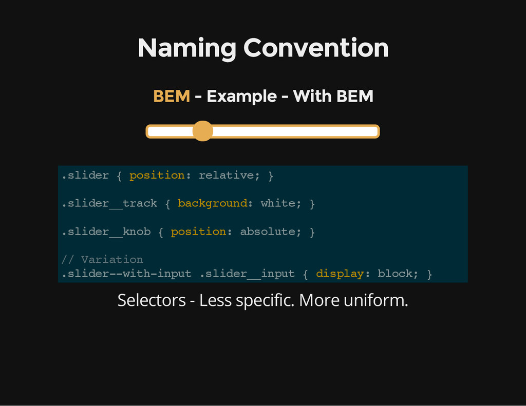 Naming Convention - Example - With BEM BEM . s ...