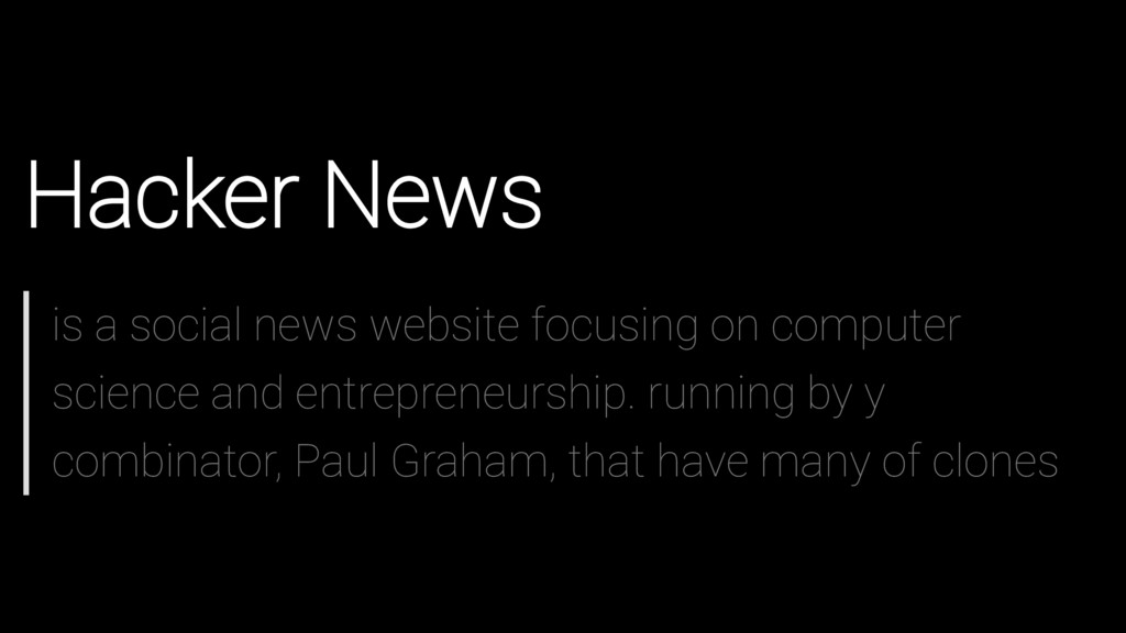 Hacker News is a social news website focusing o...