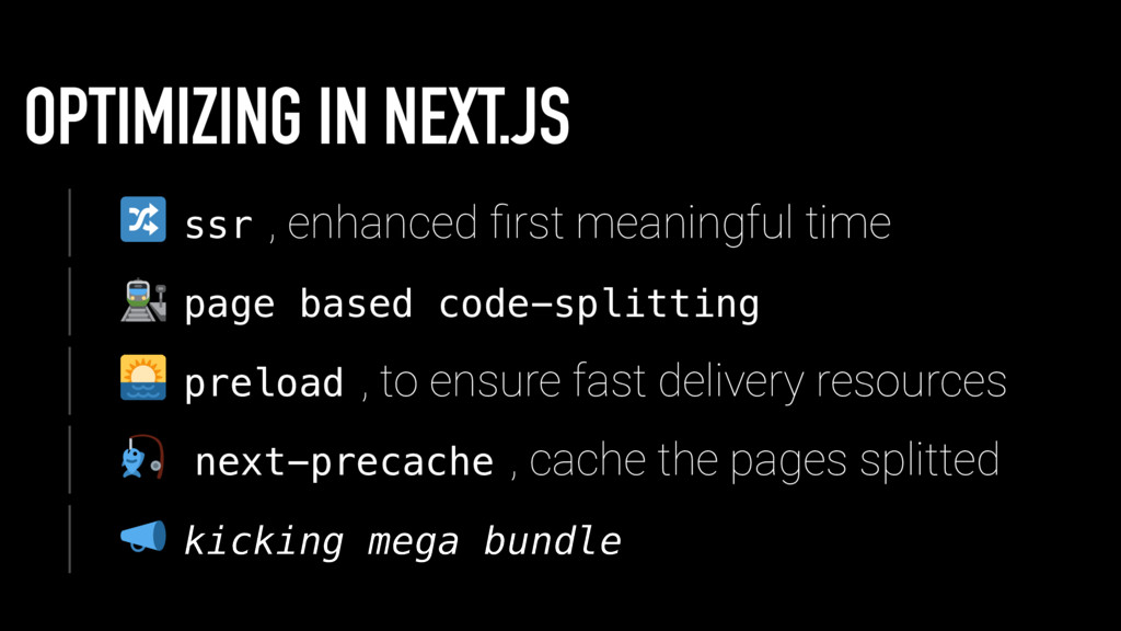 OPTIMIZING IN NEXT.JS s s r , enhanced first mea...
