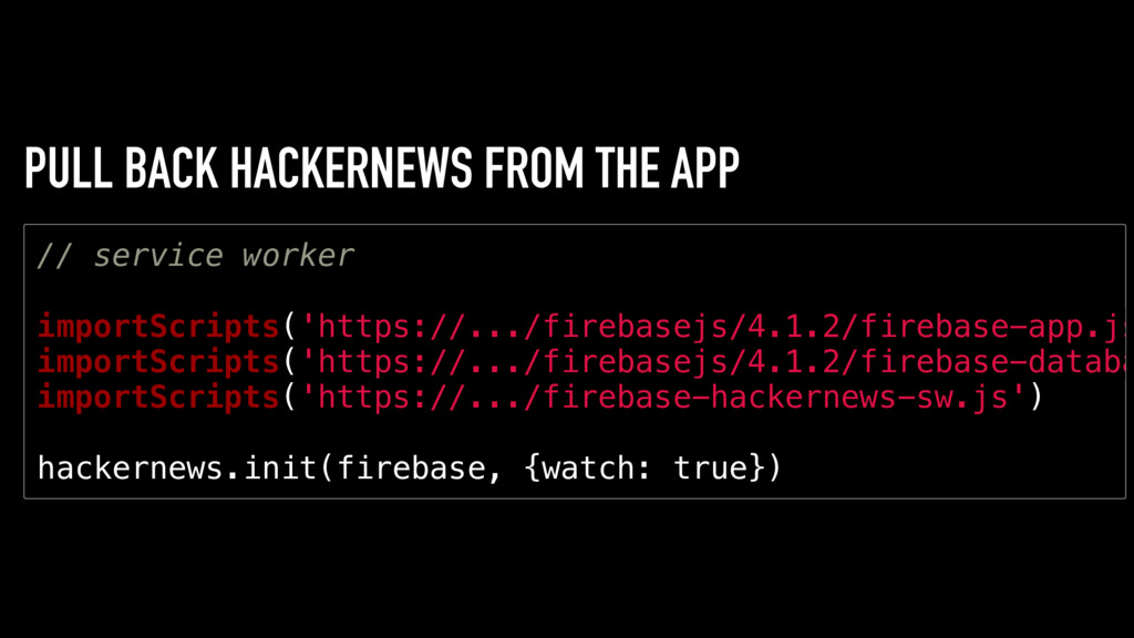 PULL BACK HACKERNEWS FROM THE APP / / s e r v i...