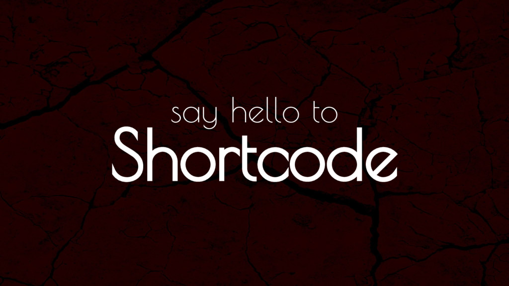 Shortcode say hello to