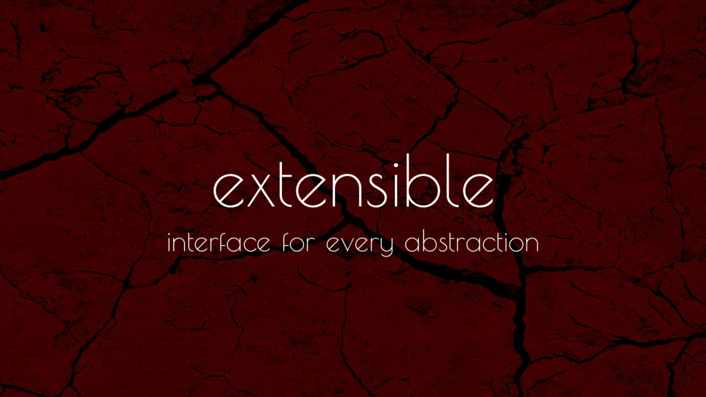 extensible interface for every abstraction