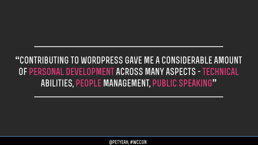 """Contributing to wordpress gave me a considerab..."