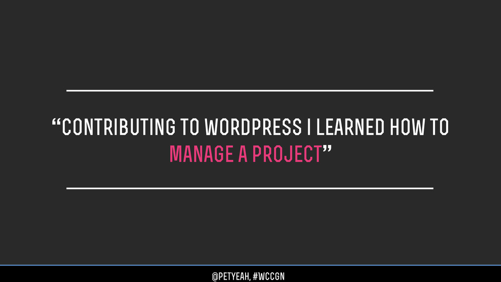 """""""contributing to wordpress i learned how to man..."""