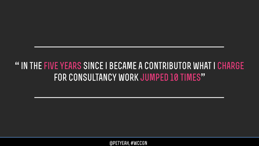 """"""" in the five years since i became a contributo..."""